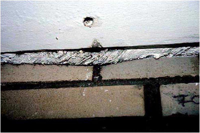 asbest asbestschnur zwischen klinkerwand und decke projekt enba. Black Bedroom Furniture Sets. Home Design Ideas