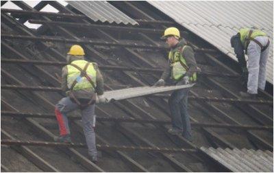 Asbest Dachdeckung 2